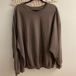 Basic Grey Oversized Crew Neck Sweatshirt 4XL